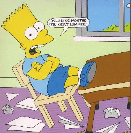 Blackboard Quotes: Bart Simpson, the optimist